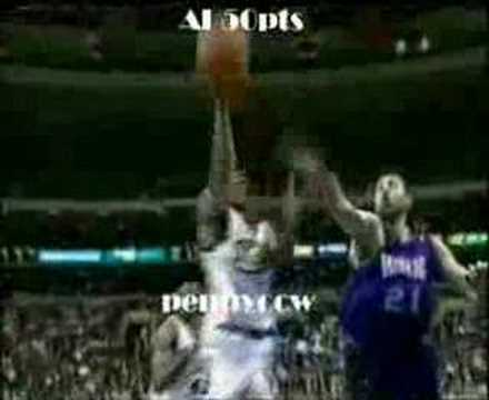 Allen Iverson 50pts vs Chris Webber Sacramento Kings 99/00