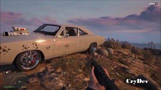 GTA 5 PC Crash Testing Fast and Furious 7 Dodge Charger