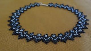 """Колье из бисера """"Светлана"""".  Бисероплетение.  Мастер класс / Necklaces of beads. Beading"""