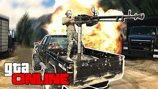 GTA 5 Online - ЗВЕРСТВО ЗА ПУЛЕМЕТОМ! #66
