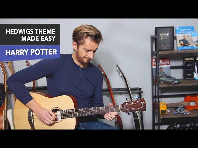 Harry Potter Theme Guitar Lesson - Very EASY Tutorial Melody Only thumbnail