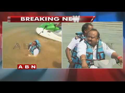 EX ఎమ్యెల్యే గంగుల కమలాకర్ కి తృటి తప్పిన ప్రమాదం | Gangula Kamalakar Escaped from Boat Mishap