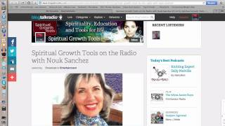 Spiritual Growth Tools on the Radio with Nouk Sanchez