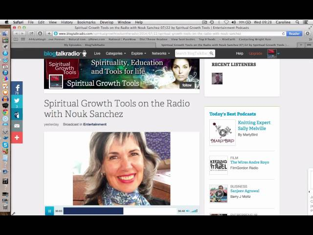 Spiritual Growth Tools on the Radio with Nouk Sanchez