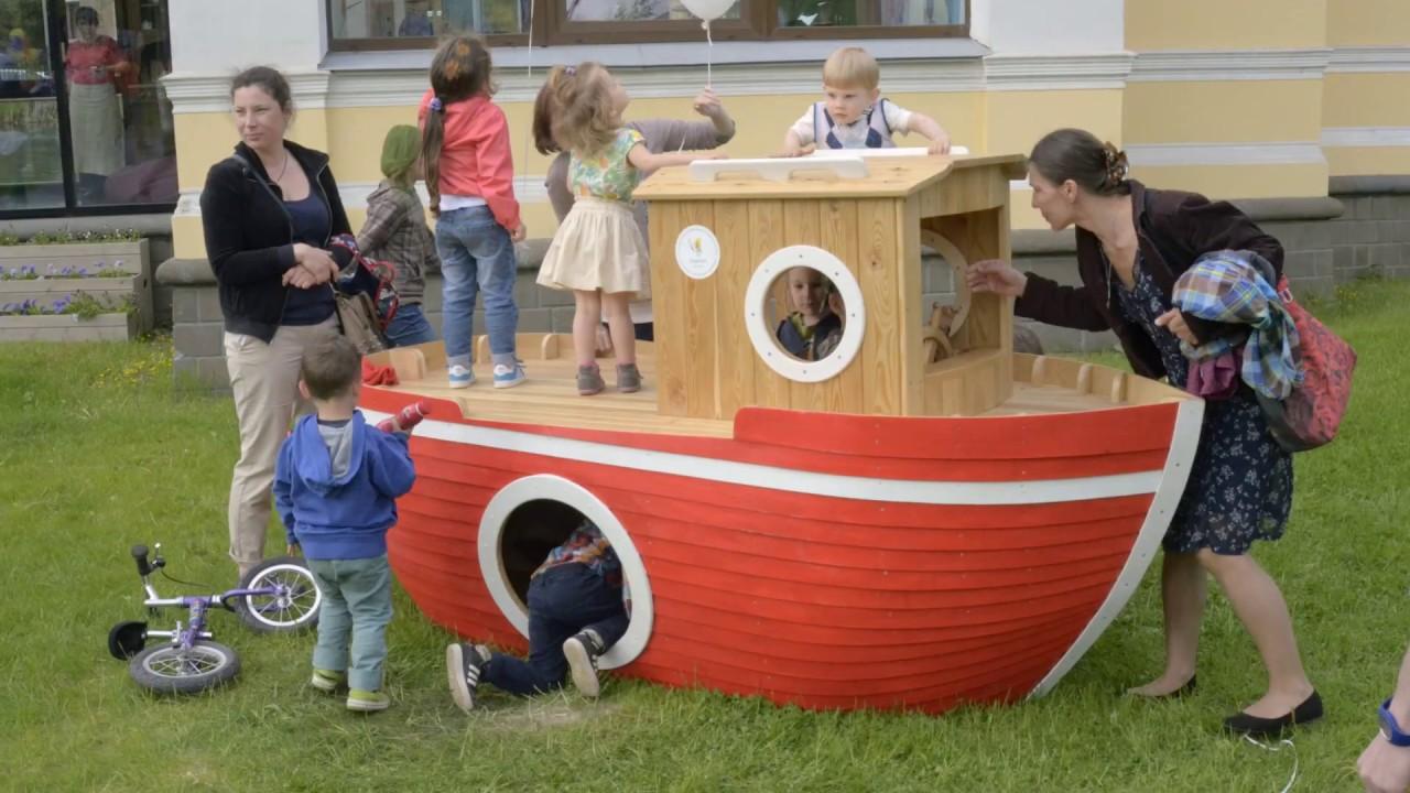 Детский кораблик на детскую площадку своими руками 27