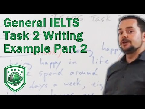 General IELTS Task 2 writing example to get a high score PART 2