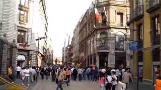 Mexico City Walking / Madero Street / Zocalo / Palacio Nacional