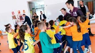Trigueros y Naiara disfrutan en el colegio José Soriano de Vila-real - 23 octubre