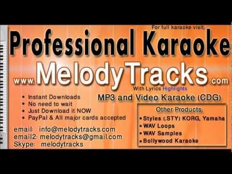 Na tum bewafa ho na hum - Lata KarAoke - www.MelodyTracks.com...