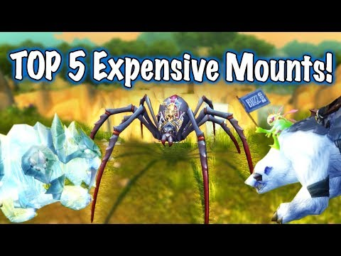 TOP 5 EXPENSIVE MOUNTS (World of Warcraft)