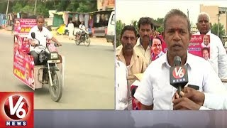 Adilabad Man Launches Motor Cycle Tour Wishing CM KCR To Become Next Prime Minister