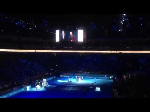 Roger Federer 2 Trophies Presentation - 2014 ATP World Tour Finals