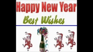Happy New Year -2016- Year of Red Monkey!-Speaking monkey