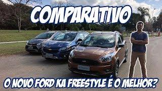 Comparativo: novo Ford Ka Freestyle versus Chevrolet Onix Activ 2019 e Hyundai HB20X 2019