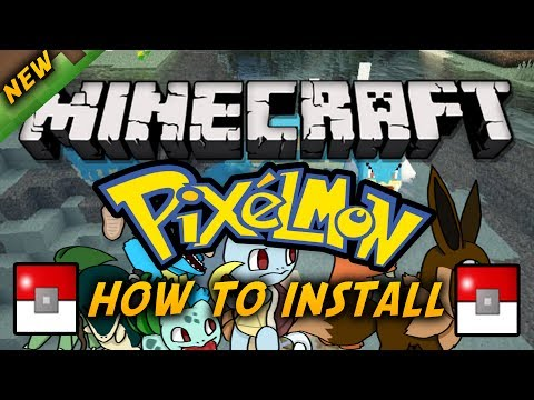 Minecraft Mod Tutorial - How to Install Pixelmon Mod 1.7.4/1.7.2/1.6.4 Forge Updated