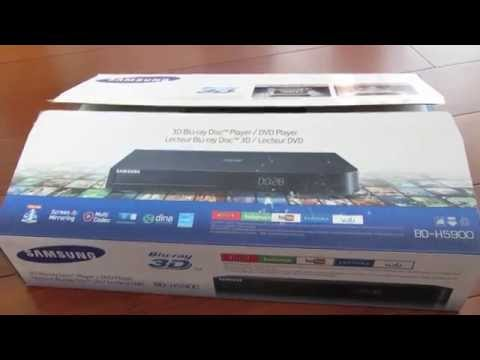 Unboxing video review of the Samsung Blu-ray Disc BD-H5900 Smart 3D wi-fi Player