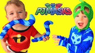 PJ Masks Catboy's Tail DISAPPEARS! Incredibles 2 Jack Jack Trouble