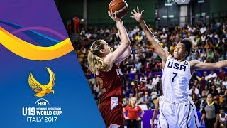 USA v Russia - Full Game - Final - FIBA U19 Women's Basketball World Cup 2017