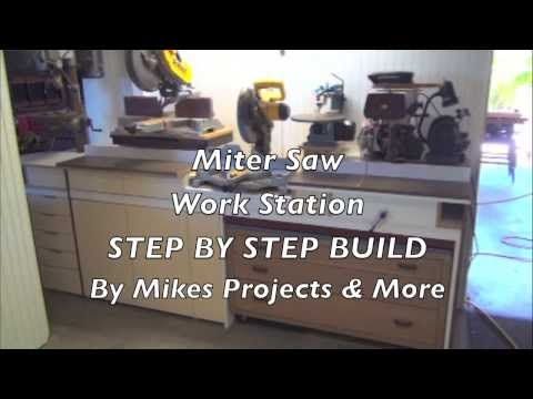 1*Building the Built In Mega Miter Saw Cut Station *Good for Small Shops