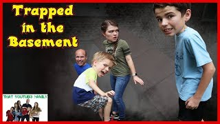 TRAPPED in BASEMENT - Exploring CREEPY Old Basement! / That YouTub3 Family