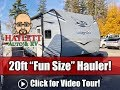 (Discontinued) Octane 161 Smaller Toy Hauler Jayco Travel Trailer, Updated 2020 Model