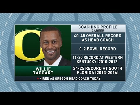 Gottlieb: Willie Taggart named Oregon's head coach