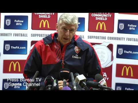 Arsene Wenger Pre Arsenal Vs Chelsea Community Shield