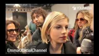 """Emma Marrone - Intervista alla sfilata di """"Costume National"""" - 12.01.13"""