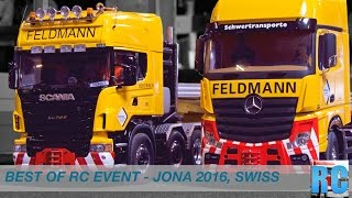 BEST OF SWISS RC TRUCK EVENT - DRIVE SHOW JONA 2016, SWITZERLAND - BIG EXCAVATOR, TRUCKS, TRACTORS
