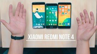 Xiaomi Redmi Note 4. Распаковка и визуальное сравнение с Xiaomi Mi5 и Oneplus 3.