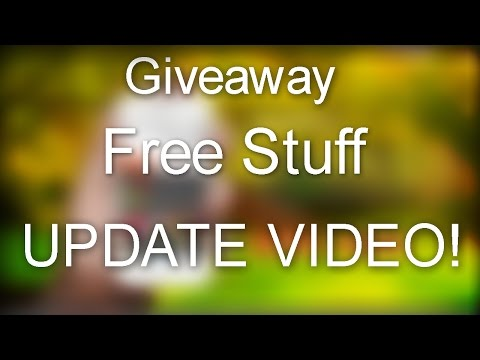 Giveaway/Free Stuff/Update Video!