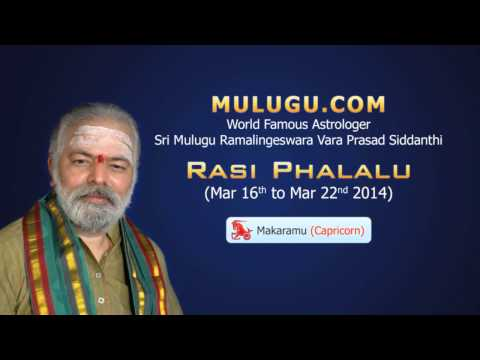 Makara Rasi Capricorn Horoscope - March 16th - 22nd 2014 video