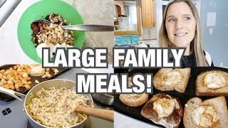 WHAT I EAT IN A DAY   LARGE FAMILY MEAL IDEAS!