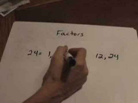 MATH LESSON: Finding Factors of a Number
