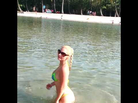 Tancy Marie Wet Tiny Bikini