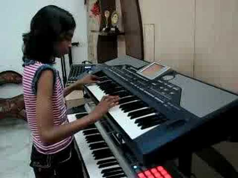 Indian Girl Playing  Keyboard Hindi Instrumental Music - Classic Medley Of 2 Rhythmic Awara Songs video