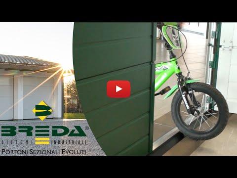 Porta pedonale inserita con soglia ribassata Breda