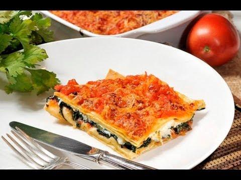 Lasaña de espinacas - Spinach Lasagna