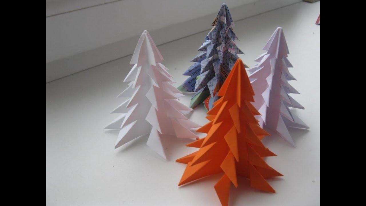 DIY Paper Christmas Tree 3D Tutorial - YouTube