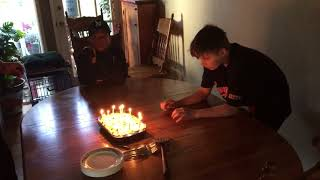 ACL1 turns 13 with a cold. Birthday Cake.