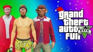GTA 5 Online Funny Moments Gameplay - North Yankton Glitch, Titan Plane Fun, Alien, This is Santa!