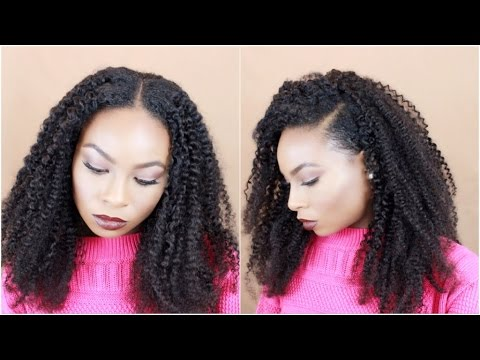 How To: Two Part Sew In (Flip Over Method) Feat. Her Given Hair