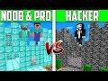 Minecraft NOOB vs PRO vs HACKER: CASTLE HOUSE Challenge in Minecraft / Animation