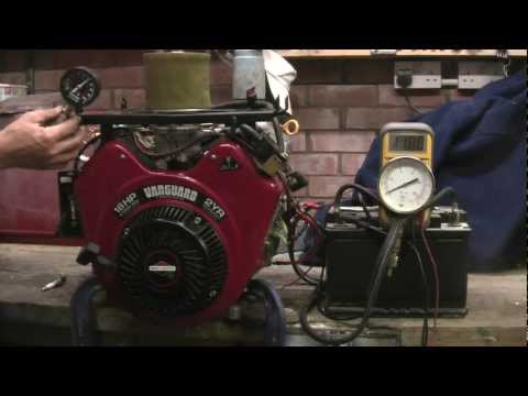 BRIGGS & STRATTON V TWIN VANGUARD 18HP ENGINE, PRESSURE, CHARGING CHECKS, LA