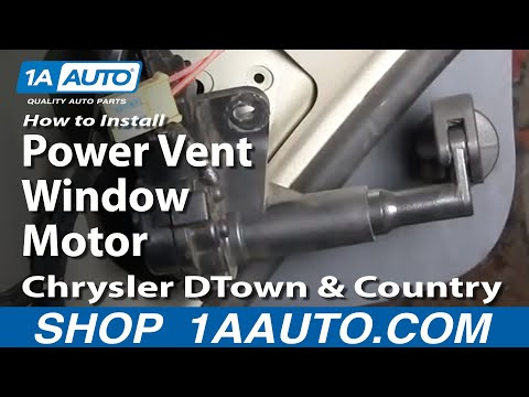 How to install replace rear power vent window motor for 2001 dodge caravan power window motor replacement
