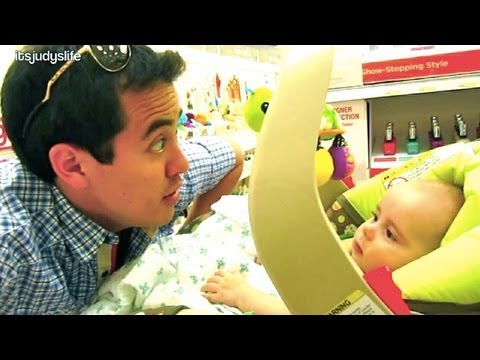 How to Calm a Baby at Target - May 29, 2012 - itsJudysLife Vlog