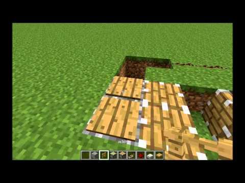 как построить лифт в minecraft