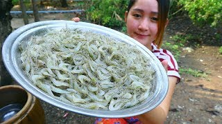 Yummy Fresh Tiny Shrimp Salad Cooking - Tiny Shrimp Salad Recipe - Cooking With Sros