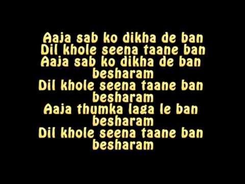 BAN BESHARAM LYRICS - Title Song | Ranbir Kapoor