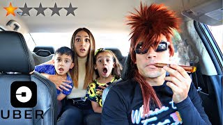 PICKED UP MY WIFE & KIDS IN AN UBER DISGUISE * Gone Wrong * | Jancy Family